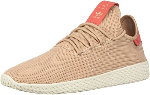 adidas Originals Men's PW Tennis HU W Running Shoe, Ash Pearl/Ash Pearl/Linen, 5