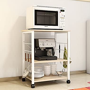 Soges 3-Tier Kitchen Baker's Rack Utility Microwave Oven Stand Storage Cart Workstation Shelf, W4-F