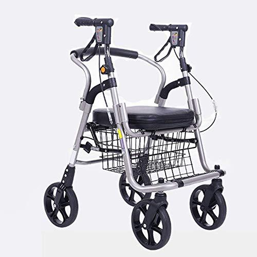 Verstelbare machine voor medisch rijden, Advanced Shopping Cart voor oudere personen, kinderwagen, rolstoel, rolstoel, scooter, vier wielen, opvouwbaar, licht, L