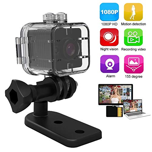 Beveiliging mini camera, mini waterdichte 1080P HD sport camera bewegingsdetectie Kleine videorecorder IR nachtzicht monitor bewakingscamera