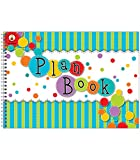 Carson Dellosa Fresh Sorbet Large Academic Teacher Planner - Undated Daily/Weekly Lesson Plan Book and Record Organizer for Classroom or Homeschool (9.25' x 13')