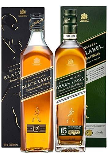 Johnnie Walker - Black Label & Green Label - Whisky
