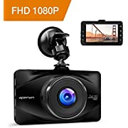 "APEMAN In Car Dash Cam 1080P FHD Camera Metal DVR Digital Driving Video Recorder for Cars 3"" LCD Screen 170°Wide Angle 6G Lens with WDR Loop Recording G-sensor Parking Monitor and Motion Detection"