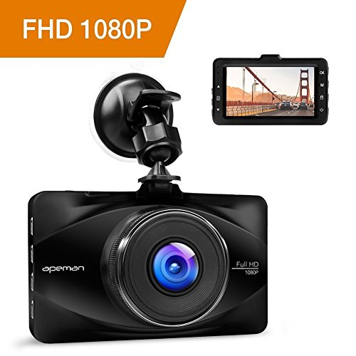 apeman Dashcam Car Camera Full HD 1080P DVR with 170° Wide Angle, 3
