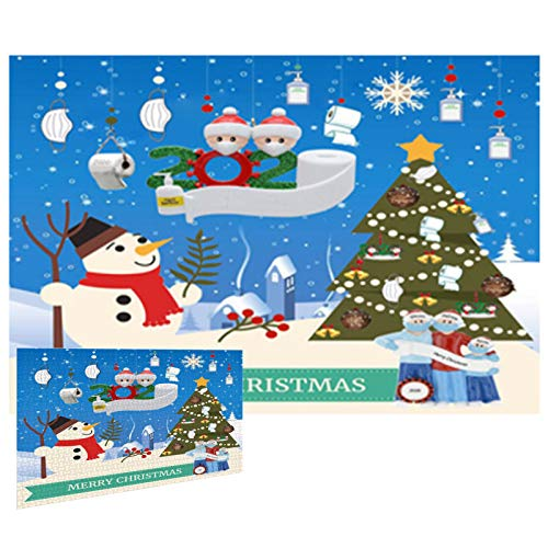 Snowman Celebration Jigsaw Puzzle 1000 Piece,Christmas Puzzles Educational Games,Teens Kids Toys Gifts Educational Game Toy Brain Training Toy Perfect for Group or Family Activity (Snowman)