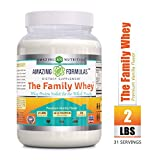 Amazing Formulas 'The Family Whey' – Whey Protein (Isolate) Powder for The Whole Family – 2...