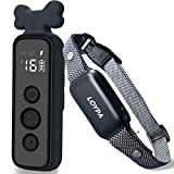 CUTE DESIGN WITH 3 TRAINING MODES: The external material of the remote is made of silicone, which is ergonomic and comfortable to hold.Intuitive and functional buttons for each mode can prevent over-stimulation and keep your pets safe. LOYPA dog trai...