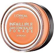 L'Oréal Paris Infaillible 24H Correttore Viso in Crema a Lunga Tenuta, 20 Peach