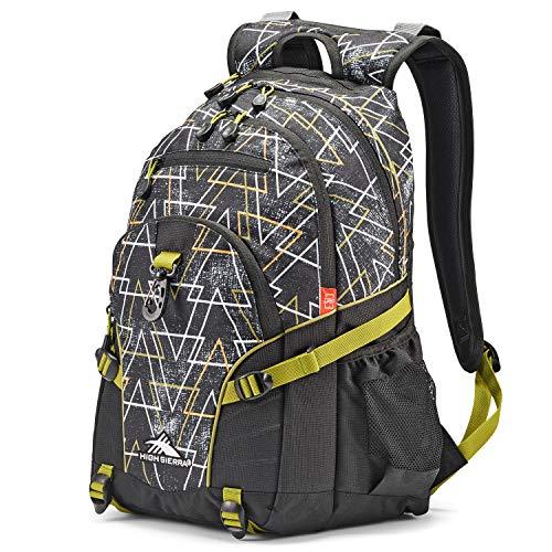 High Sierra Loop-Backpack, School, Travel, or Work Bookbag with Tablet-Sleeve, Neo/Black/Avocado, One Size