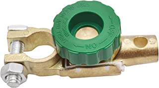 mxuteuk Top Post Battery Master Disconnect Switch,Battery Terminal Link Quick Switch with Green Knob,Power Master Disconne...