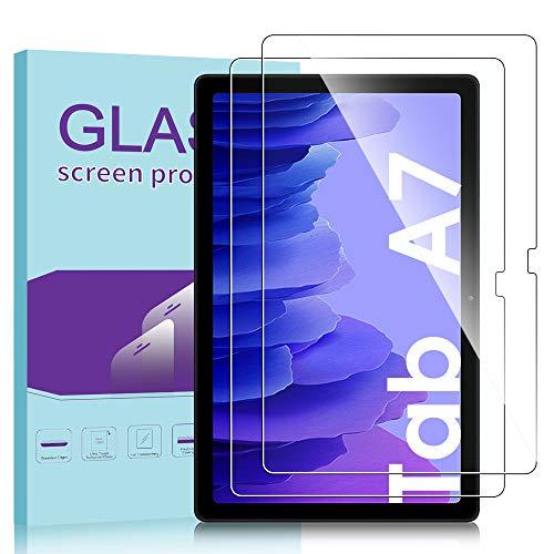 Janmitta für Samsung Galaxy Tab A7 10.4 Panzerglas Schutzfolie [2-Stück], 2.5D Panzerfolie 9H Gehärtetem Glass [Anti-Kratzen][Anti-Bläschen] HD Displayschutzfolie mit Galaxy Tab A7 2020