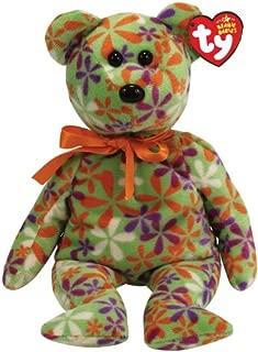 Ty Beanie Babies Groovey - Flower Print Bear (Green)