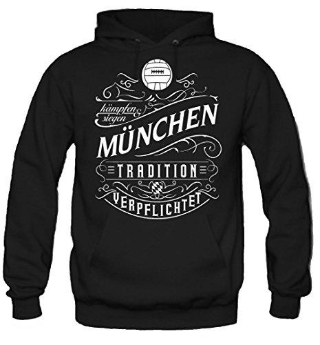 uglyshirt87 Mijn leven München hoodie | vrije tijd | hobby | sport | spreuken | voetbal | stad | mannen | heren | fan | M1 front