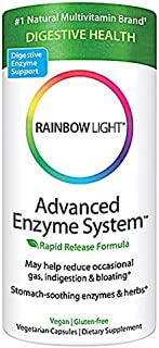 Rainbow Light Advanced Enzyme System Vegetarian Capsules, 90 Count