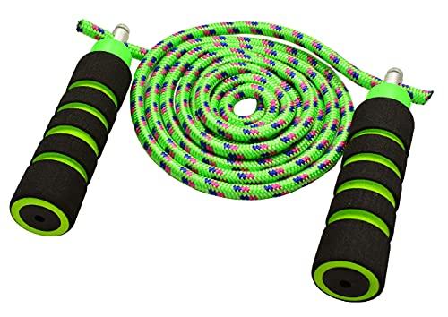 LZQHGJ YAJIAN Cuerdas de Arco Iris duraderas, amigables para los niños Saltando la Cuerda con manijas de Espuma Ligera y Colores Vibrantes/Código de Productos básicos: YWBBB-756