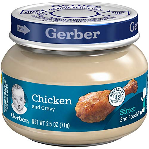 Gerber Purees 2nd Foods, Chicken & Gravy, 2.5 Ounce Jars (Pack of 10)