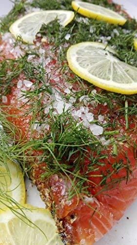 Lachs gebeizt (Graved) mit Dill und Zitrone 1,1 kg Seite ✔ Mit frischen Kräutern und Bio Zitrusfrüchen in eigener Manufaktur hergestellt