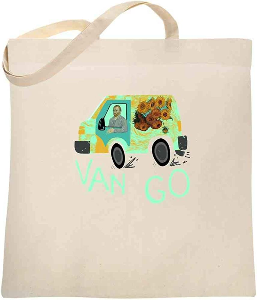 Van Gogh/'s Sunflowers Cotton Tote Bag 15x16 in.