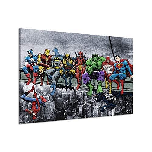 BAOZHEN Lienzo Pintura Art Poster Pared superhéroes de Marvel DC Comics...