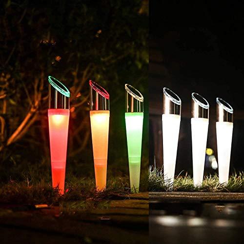 ソーラーライト 屋外 埋め込み式 ガーデンライト ソーラー 防水 地中埋込型ライト 白光/RGB色調光 埋め込みライト パスライト 庭園灯 ガーデニングライト 自動点灯消灯 おしゃれ ガーデン 玄関先 庭 芝生 花壇 歩道