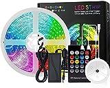 GH-YS Barra de luz LED, Barra de luz LED RGB de 5-20M, Kit de...