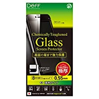 Deff iPhone 6 6s Plus 対応 液晶 保護 ガラス フィルム プレート Dragontrail X 0.55mm クリア/Chemically Toughend Glass Screen Protector/DG-IP6SG5F / DG-IP6PSG5F (iPhone 6 Plus / 6s Plus, ブラック(黒))