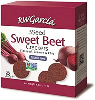 R. W. GARCIA, Crackers, 3 Seed Beet, Pack of 6, Size 6.5 OZ, (Gluten Free GMO Free Kosher Vegan Wheat Free)