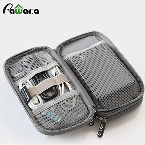 Samy Best Travel Gadget Organizer Bag Portable digital cable bag Electronics Accessories Storage Carrying Case Pouch for USB power Bank