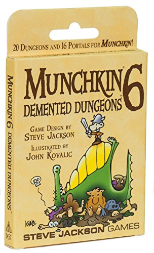 Munchkin 6 Demented Dungeons Expansion Deck Pack 20 DoubleSized Cards 16 StandardSized Cards