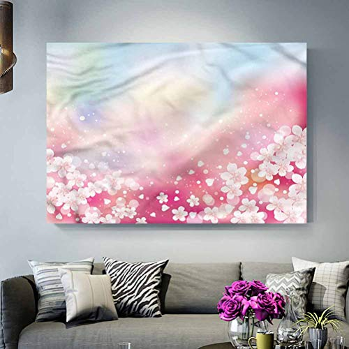 Wall Decoration Pastel,Dreamy Cherry Blossoms L30 x H60 Inch