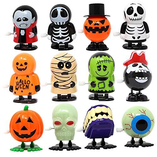 JOYIN 12 STÜCKE Halloween Aufziehspielzeug, Wind up Spielzeug für Halloween Party Kinder Geschenk Goody Bag