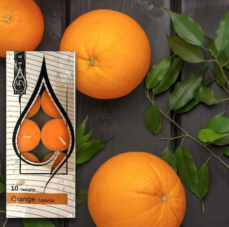5ense Candelita Velas Perfumadas Caja de 50 Unidades - Tealights (Naranja)