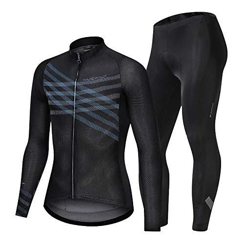 BEYONDTIME Outdoor Sport Radfahren Anzug Langärmelig Sportanzug Enge Atmungsaktiv Und Schweißabsorbierend D-XX-Large