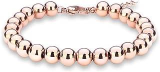 rose gold ball bracelet