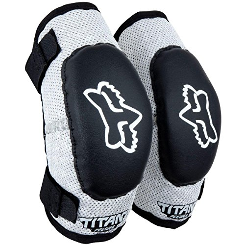 Fox Racing PeeWee Titan Youth Elbow Guard MotoX Motorcycle Body Armor - Black/Silver/Youth...