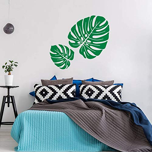 BailongXiao Monstera Muster Blatt wandaufkleber Wohnzimmer Dekoration tropisches Blatt wandkunst Aufkleber Dschungel Stil Vinyl tapete 42x38 cm