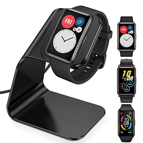 CAVN Kompatibel mit Huawei Watch Fit Ladestation, Huawei Band 6, Huawei 4X /Honor Watch ES/Honor Band 6 Ladegerät, 4.2ft USB Aluminium Lade Dock Aufladekabel Kabel für Huawei Fit/Band 6