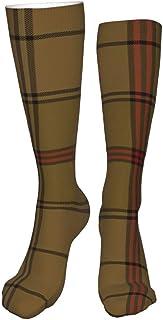 Lawenp Calze al ginocchio, Ulster District Tartan Torba Calze lunghe scure per stivali Calze cosplay Calze invernali accog...