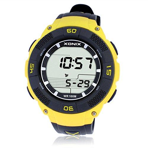 Calorías Grasa Multifuncional Paso Contador Movimiento Resistente al Agua Relojes Digitales-B