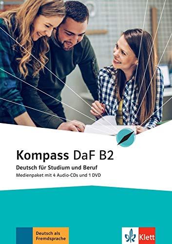 Kompass DaF B2: Medienpaket (4 Audio-CDs + 1 DVD) (Kompass DaF: Deutsch für Studium und Beruf)