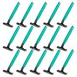 PRETYZOOM 15 Piezas de Maquinillas de Afeitar Desechables Máquina de Afeitar Portátil Herramienta de Corte de Barba Herramienta de Depilación Corporal Portátil para Hombres Mujeres (Verde)