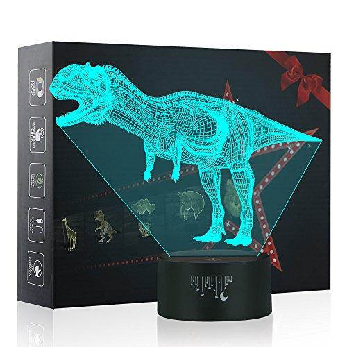 Dinosaurier 3D Lampe Optische LED Täuschung Nachtlicht, Yunplus 7 Farbwech ändern Berühren Sie Botton Schreibtisch lampe Tischleuchte