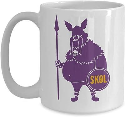 バイキングSKOLコーヒーマグ-サッカーファンギフトバイキングサッカー、面白いバイキングマグ