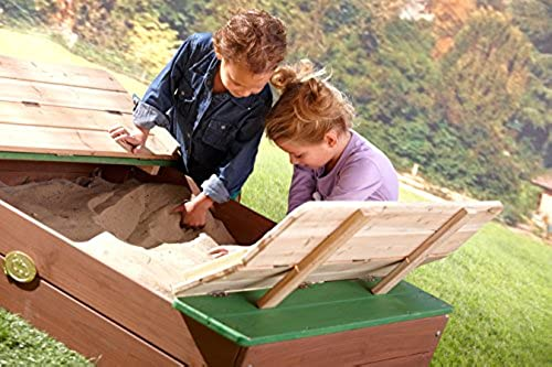 Unbekannt Sandkasten für Kinder mit Sitzb en Buddelkiste BV-GrünRIEB - (3028)