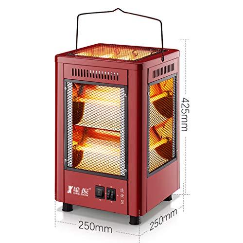 Elektrische radiator met kwarts-buisverwarmer 5 met melkplaat, regelbare thermostaat, onafhankelijk van schakelaar, draagbare infraroodverwarming voor kantoor en thuis.