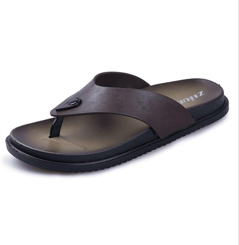 ca4e08e6c Fashion Beach Slipper Comfortable Fashion Indoor and Outdoor Men's Flip  Flops Sandals Men's Boots (color