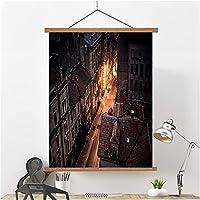 キャンバス壁印刷アート3 dホワイトフラワーオイル絵画ギャラリーリビングルームベッドルーム暖炉装飾絵画、モダンな抽象的な写真リビングルームベッドルーム浴室装飾アート B- 50*75cm/20*30in