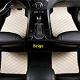 Maibenbao Alfombras de Coche para Lexus SC SC300 SC400 SC430 Alfombrilla para Coche de Cuero Antideslizante Impermeable (Beige,Juego de 4 Piezas)