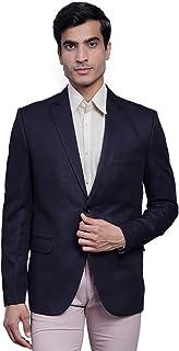 WINTAGE Men's Poly Blend Formal and Evening Blazer Coat Jacket: XS, Violet