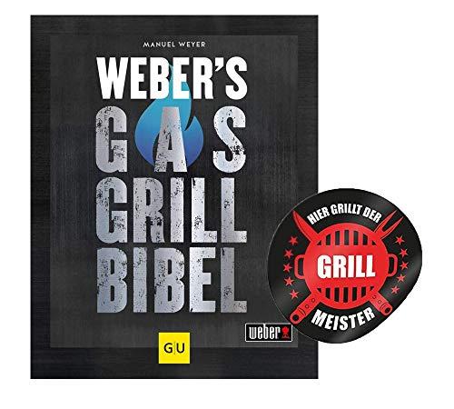 Collectix Weber's GU Weber - Biblia de gas para barbacoa (incluye pegatina para parrilla) + libro de cocina para los amantes de la barbacoa